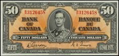Old 50 dollar bill Fake Money Printable, Coin Collection Value, Canadian Things, Rare Coins Worth Money, Money Notes, Coin Worth, Coin Values, Canadian History, Things To Sell