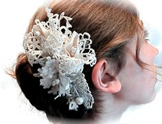 Vintage 1920's Bridal Hairpiece  Gatsby Jeweled by Marcellefinery, $52.00