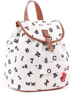 Trendy kids backpack from Kidzroom with an elegant look through the choice of simple black / white designs and cognac-colored faux-leather details. Ellesse, Emporio Armani, Go Sport, Tommy Hilfiger, Little Marcel, Black And White Design, Black White, Trendy Kids, Kids Backpacks