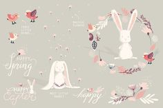 The Happy Little Spring Collection - Illustrations