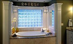 bathroom with glass block   Stark Glass Block - Products - Vinyl Wrap Glass Block Windows ...