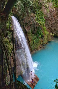 Kawasan Falls is in Badian, Cebu, Philippines. Vacation Destinations, Dream Vacations, Vacation Spots, Places To Travel, Places To See, Kawasan Falls, Philippines Travel Guide, Bohol, Palawan