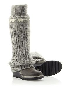 apres rent & groceries I'm all about this CRAZY CABLE WEDGE from Sorel #PinnedUp