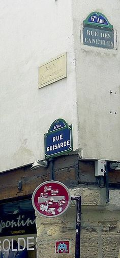 La rue Guisarde et la rue des Canettes  (Paris 6ème).