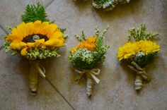 sunflower boutonnieres