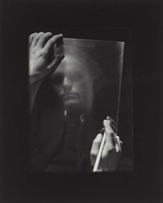 Portrait of painter Vaclav Sivko by Josef Sudek