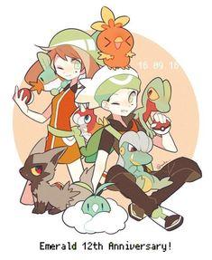 Vera e Brendon Pokemon Manga, Pokemon Fan Art, Cute Pokemon, Sapphire Pokemon, Pokemon Emerald, Pokemon Advanced, Pokemon Starters, Anime Wolf Girl, Pokemon Special