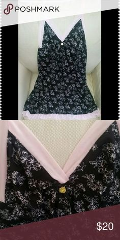 NWT Jessica Simpson Nightie Black floral print trimmed with pink adjustable straps. Cute ruffled hem. Soft, made up of 90% polyester and 10% spandex. A lovely and comfortable piece for you lingerie collection. Jessica Simpson Intimates & Sleepwear Chemises & Slips