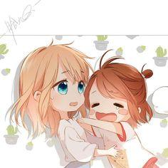 Manga Anime, Anime Couples Manga, Cute Anime Couples, Anime Guys, Anime Art, Loli Kawaii, Kawaii Chibi, Kawaii Anime, Anime Love Couple