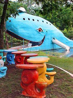 childhood memories, blue whale, summer road trips, alligators, kids