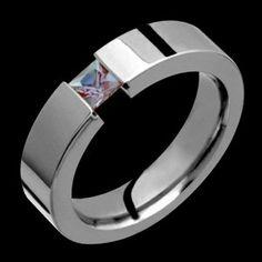 Alexandrite Titanium ring, $228