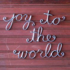 Joy to the World Christmas Wall Art Wire Word Script by GardenBarn, $49.00