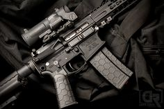 Hexmag Magazine and Advanced Tactical Grip on this Rainier Arms build from Down Range Photography