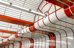 Geometric Composition in Red and White by yushimoto_02 [christian], via Flickr, Subway in Munich