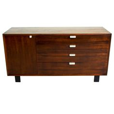 George Nelson Walnut Chest of Drawers for Herman Miller c1955