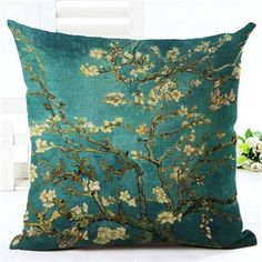 Decorative Cushion Vintage Flowers Throw Pillow
