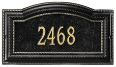 Bevolo One-Line Standard Wall Address Marker Roofing Supplies, Roof Coating, Personalized Plaques, Garden Plaques, Exterior Paint Colors, Address Plaque, Rust Free, Tear, Oil Rubbed Bronze
