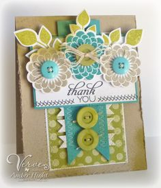 The Stamping Scrapbooker: Verve--love this unusual color combo!