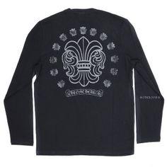 0a3ed8579380 Cheap Chrome Hearts Black BS Flare Scroll T-shirt for Men