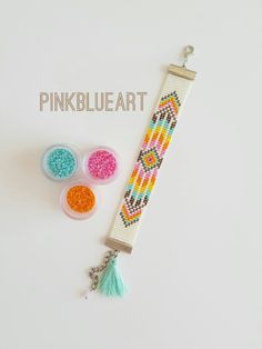 Bead Loom Bracelet Christmas Gifts For Mother Mom von PINKBLUEART