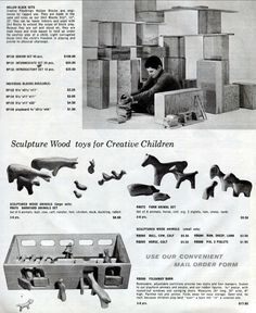 Creative Playthings 1962 Catalog. Playforms by Antonio Vitali Animals, Boats, Family & Vehicles.