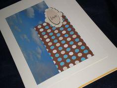Sky Blue Wedding card by giftcardsbynlo on Etsy, $3.95