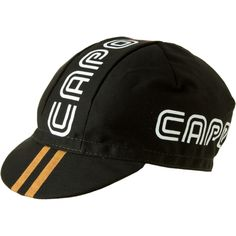 Capo Dorato Cycling  cap, two gold line on the visor  will make you look very fast and furious  even when riding bike on the parking lot when warming out for the races