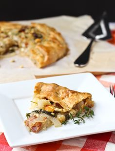 Vidalia Onion Tart with Bacon, Kale, and Thyme - aka the best thing you'll ever eat. Get the easy recipe on RachelCooks.com!