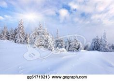 """Beautiful winter landscape with snow covered trees."" - Winter Stock Photo from Gograph.com"