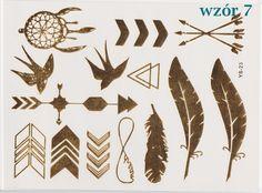 feathers boho flash tattoo arrows dreamcatcher