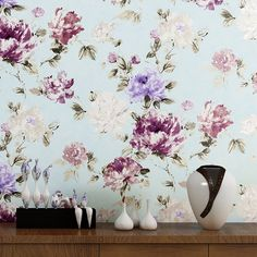 34.20$  Watch here - http://aliwzm.shopchina.info/go.php?t=32805430053 - Wallpaper Chinese Style Splash Ink Flower Wall Paper For Walls Paper 3 D Embossed Floral Non-woven Background Wall Wallpapers  34.20$ #buyonline