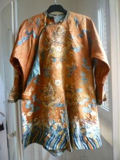efc48c850a5f7e ancient chinese robes | Chinese Embroidered Silk And Gold Metal 5 - Clawed  Dragon Robe,