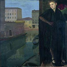 Guido Cadorin, Il Canale, 1921  GUIDO CADORIN (Venezia, 6 giugno 1892 – Venezia, 18 agosto 1976)    #TuscanyAgriturismoGiratola