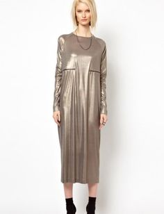 A dress thats worth its weight in gold. 29 Decidedly Non-Boho Maxi Dresses
