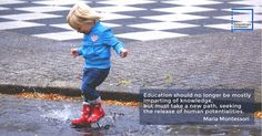"""Education should no longer be mostly imparting of knowledge..."" Maria Montessori quotes www.personalizedmontessori.com"