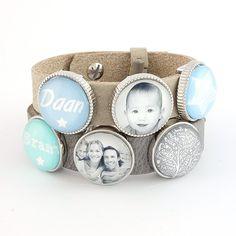 Armband met naam- en fotoschuivers | Gewoon! Sieraden Diy Jewelry, Cufflinks, My Style, School, Shopping, Fashion, Accessories, Moda, Fashion Styles