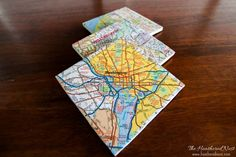 Personalized Map Coaster Tutorial and other Great Housewarming/Hostess Gift Ideas!