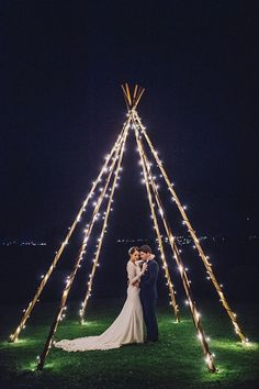Here Are Your Favourite Wedding Stories This Year After Dark Wedding Portraits Beneath A Naked Tipi Wrapped In Fairy Lights Sophie Baker Photography Tipi Wedding, Wedding Bells, Fall Wedding, Wedding Ceremony, Rustic Wedding, Dream Wedding, Wedding Cakes, Wedding After Party, Wedding Venues