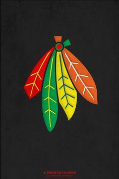 Minimalist Chicago Blackhawks iPhone4 - 640x960 iPhone5 - 640x1136
