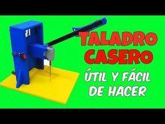 TALADRO CASERO DE BANCO FACIL DE HACER PARA MANUALIDADES FACILES Y UTILES herramientas Utiles y Faciles - YouTube