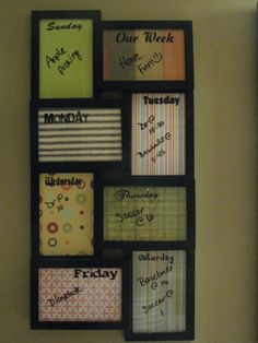 Frames Dry Erase Calendar