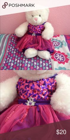 Build a bear With sparkly dress Other