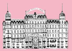 Juliana Vido Illustration/Little Grand Budapest Hotel Wes Anderson