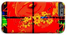 Abstract IPhone 6s Case featuring the digital art Bears Looking In by Caroline Gilmore
