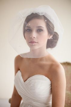 A  jeweled veil by MelindaRoseDesign via etsy  has just enough bling to make you shine. #birdcageveil