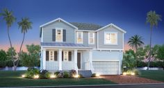 Talbot (2618 sq. ft.) is a 2-story home with 4 bedrooms, 2.5 bathrooms and 2.0-car garage. Features include loft and master bed downstairs.