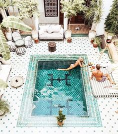 Summer evenings spent in a private pool in Morocco – tag who you'd like to be here with this weekend.  via @doyoutravel #Morocco #Pool #Summer #Evenings #Gentlemen #Architecture #Inspiration #Luxury #Lifestyle
