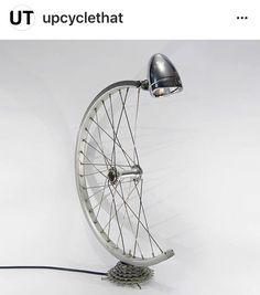 Upcycled Bike Wheel Lamp | #UpcycledLighting | #UpcycledBicycles
