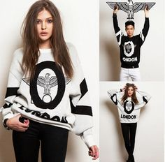 2015 Spring New Hot explosion women loose sweatshirt in Europe and America fashion personality Eagles harajuku Price: US $13.75 / piece