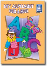 My Alphabet Fold-a-Book. Initial sounds. The pages are designed so that on completion of the four activities on each page, the work is folded into a small booklet, which can be the child's record and form a collection of achievements.